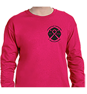 2018 Breast Cancer Tee Long Sleeve Schenectady Fire Fighters